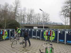Park & Bike -aseman kaapit toimivat sähköisellä avaimella.